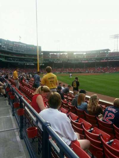 Fenway Park, section: Right Field Box 4, row: n, seat: 4