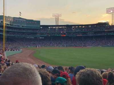 Fenway Park, section: Right Field Box 89, row: Ee, seat: 9