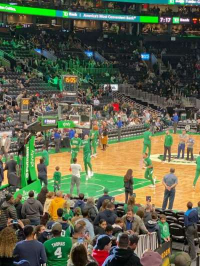 TD Garden, section: Loge 5, row: 15, seat: 7