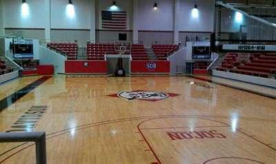 John M. Belk Arena, section: 1, row: B, seat: 14