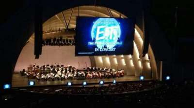 Hollywood Bowl, section: K1, row: 15, seat: 2