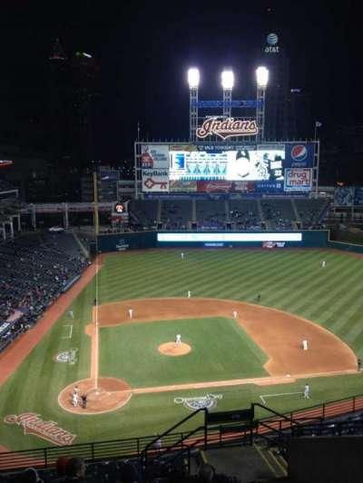 Progressive Field, section: 550, row: K, seat: 9