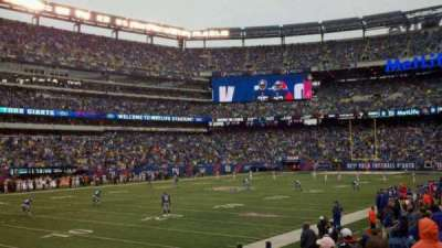 MetLife Stadium, section: 118, row: 9, seat: 8