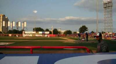 Lawrence-Dumont Stadium, section: 106, row: CC, seat: 7