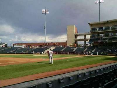 Isotopes Park, section: 115, row: C, seat: 24