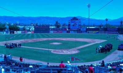 San Manuel Stadium, section: 203, row: m, seat: 1