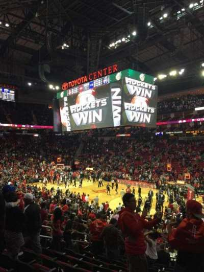 Toyota Center, section: 103, row: 19, seat: 13