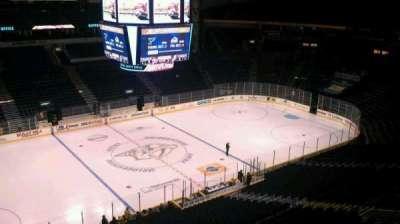 Bridgestone Arena, section: 308, row: A, seat: 1