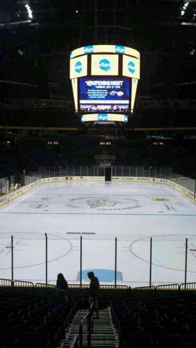 Bridgestone Arena, section: 101, row: H, seat: 14