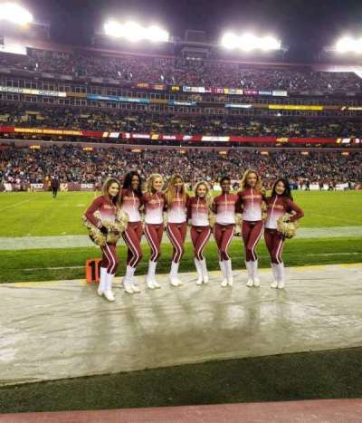 FedEx Field, section: 25, row: 1, seat: 6