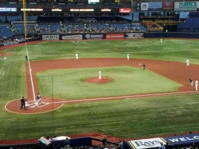 Tropicana Field, section: 208, row: A, seat: 5