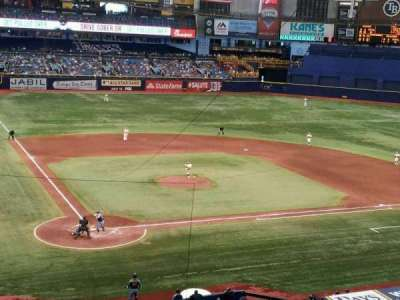 Tropicana Field, section: 206, row: F, seat: 1