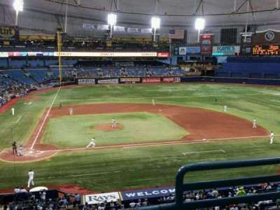 Tropicana Field, section: 208, row: C, seat: 2