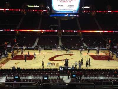 Quicken Loans Arena, section: C108, row: 21, seat: 13