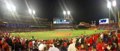 Great American Ball Park, section: 131, row: Q, seat: 12