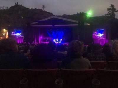 The Greek Theatre, section: B, row: S, seat: 12