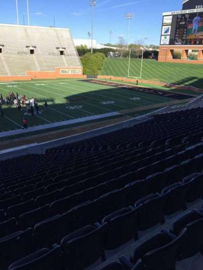 BB&T Field, section: 5, row: DD, seat: 15