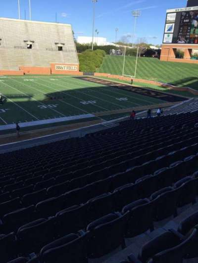 BB&T Field, section: 6, row: CC, seat: 23