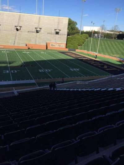 BB&T Field, section: 7, row: CC, seat: 19