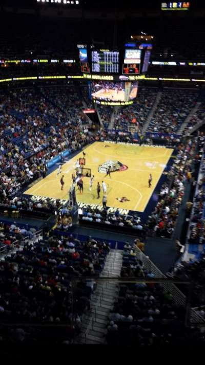 Smoothie King Center, section: 307, row: 2, seat: 2