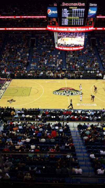 Smoothie King Center, section: 317, row: 2, seat: 2