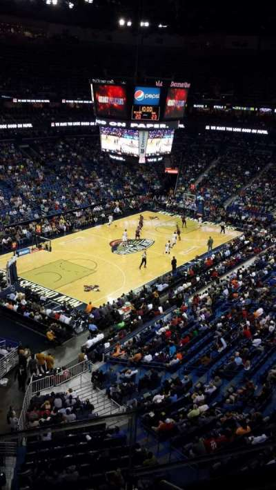 Smoothie King Center, section: 321, row: 2, seat: 2