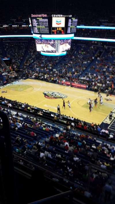 Smoothie King Center, section: 329, row: 2, seat: 24
