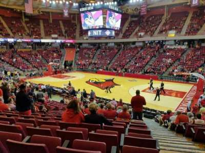 Redbird Arena, section: K, row: 17, seat: 1