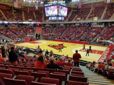 Redbird Arena, section: K, row: 17, seat: 1
