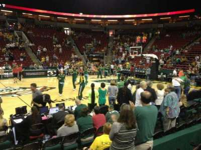 KeyArena, section: 128, row: 4, seat: 7