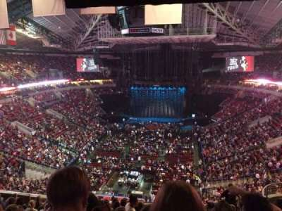 KeyArena, section: 208, row: 13, seat: 14