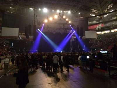 KeyArena, section: 104, row: 2, seat: 6