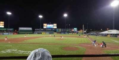 McCoy Stadium, section: 9, row: B, seat: 1