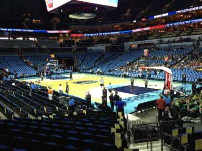 Spectrum Center, section: 103, row: M, seat: 4