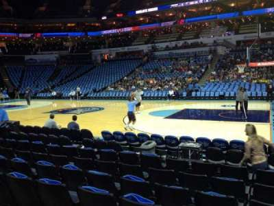Spectrum Center, section: 103, row: E, seat: 5
