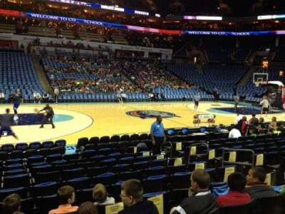 Spectrum Center, section: 106, row: I, seat: 8