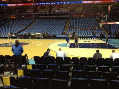 Spectrum Center, section: 113, row: D, seat: 15