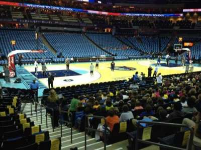 Spectrum Center, section: 116, row: N, seat: 3