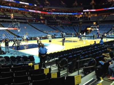 Spectrum Center, section: 116, row: F, seat: 7