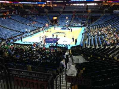 Spectrum Center, section: 116, row: W, seat: 59