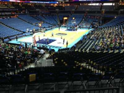 Spectrum Center, section: 116, row: W, seat: 45