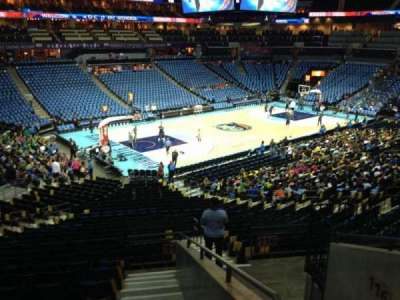 Spectrum Center, section: 116, row: AA, seat: 9
