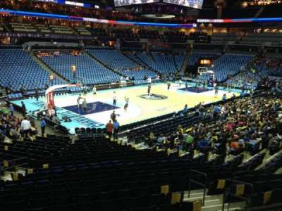 Spectrum Center, section: 116, row: U, seat: 17