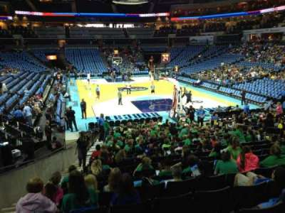 Spectrum Center, section: 101, row: G, seat: 15