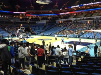 Spectrum Center, section: 103, row: K, seat: 16