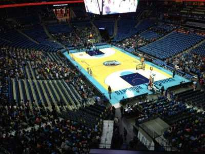 Spectrum Center, section: 220, row: A3, seat: 10