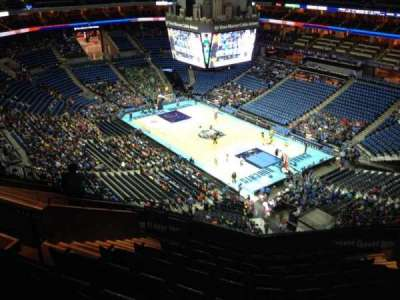 Spectrum Center, section: 221, row: L, seat: 11