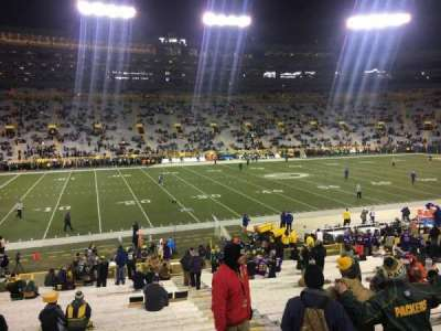Lambeau Field, section: 125, row: 29, seat: 1