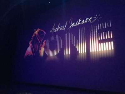 Michael Jackson One Theatre, row: 2, seat: 2