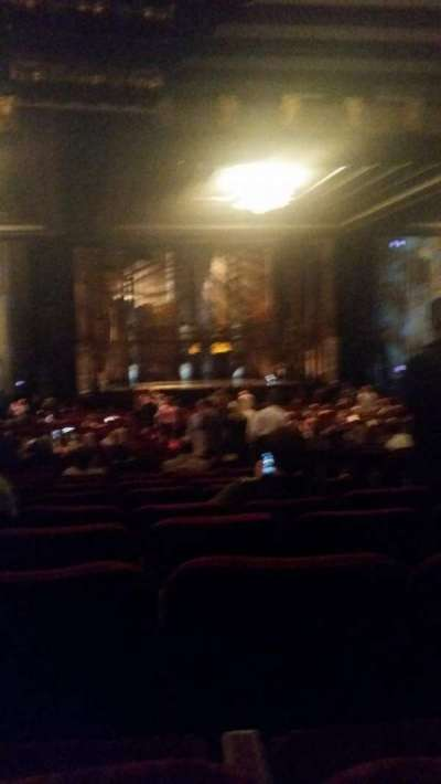 Hollywood Pantages Theatre section Mezzanine